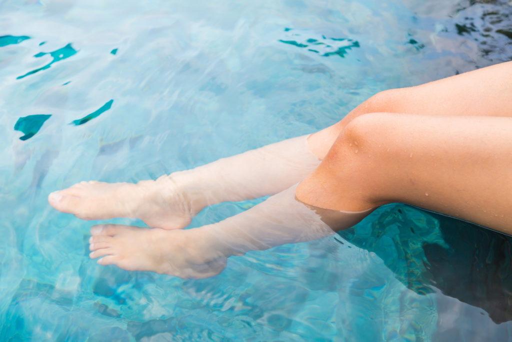 Krásné nohy bez otoků